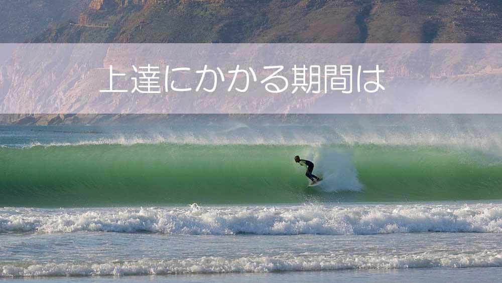 一般的にサーフィン上達にかかる期間はどの程度なのか
